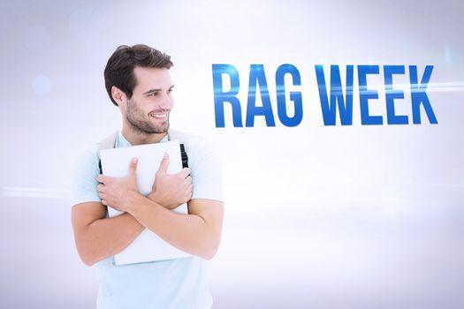 Rag week against grey background