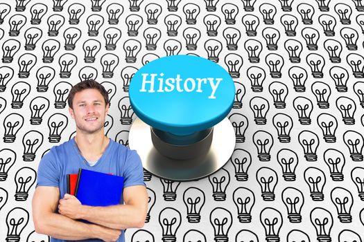 History against blue push button