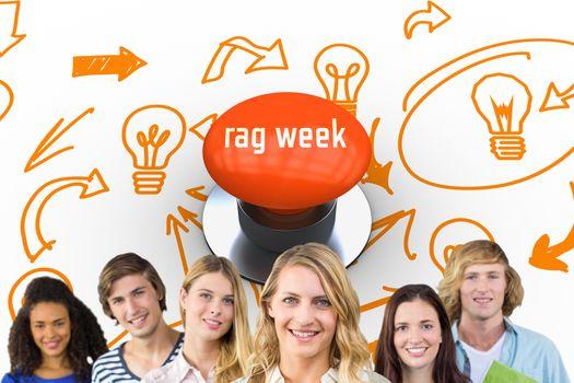 Rag week against orange push button