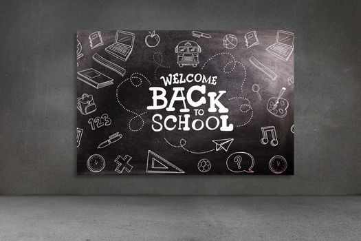 back to school against black background
