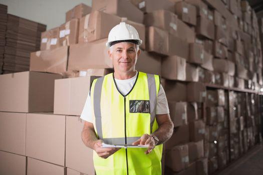 Portrait of manual worker in warehouse