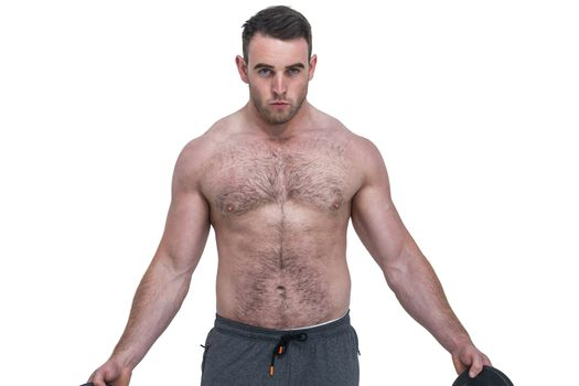 Strong bodybuilder with no shirt