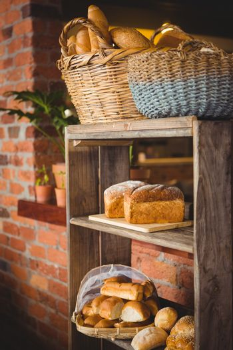 Breads on a shelf