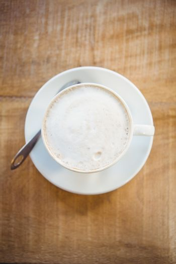 Close up of cup of coffee