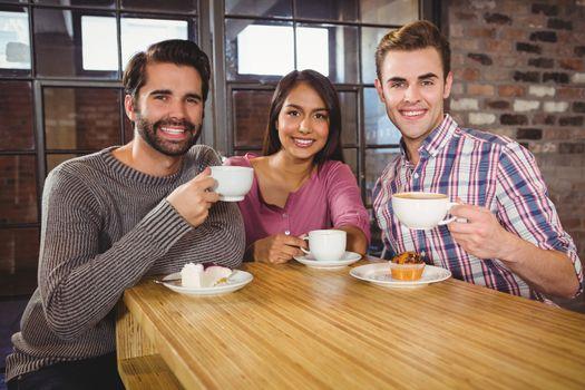Group of friends enjoying a breakfast