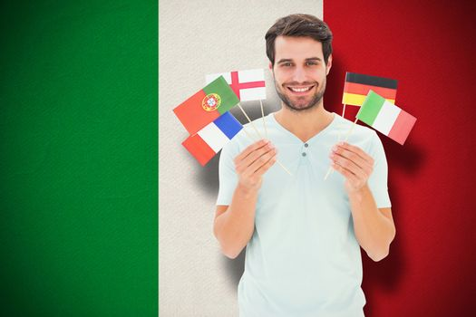 Composite image of international student