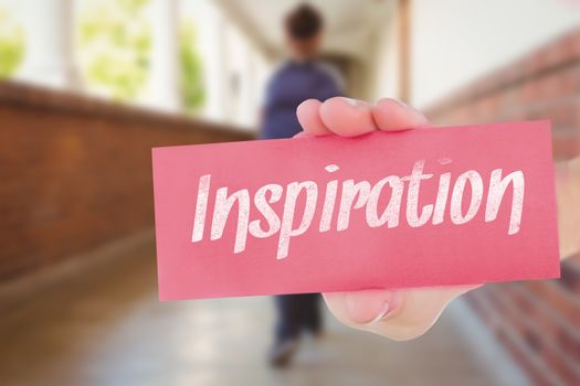 Inspiration against pretty teacher helping pupils in classroom