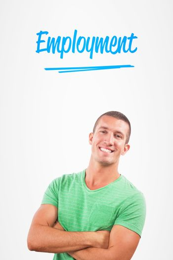 Employment against white background with vignette