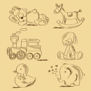 hand drawn toys