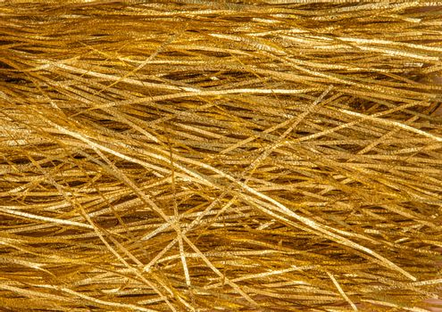 Golden tinsel as background