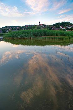 Tihany abbey in Hungary at lake Balaton
