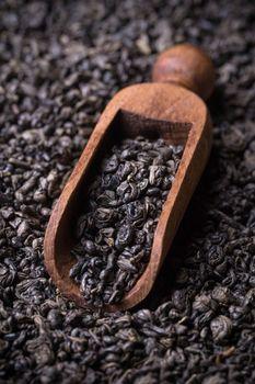 Scoop with green tea