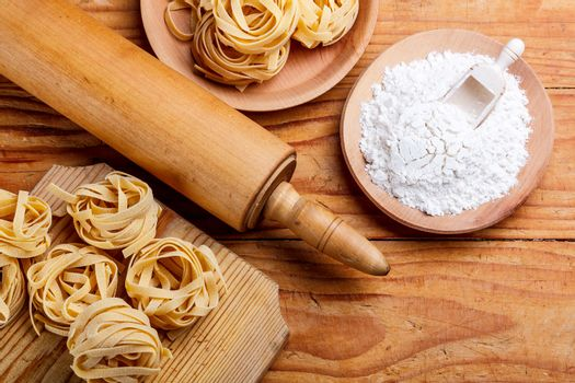 Rolling pin and pasta