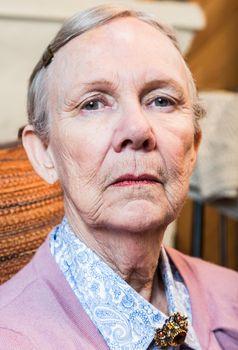 Stern Elderly Lady