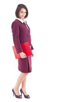Secretary with clipboard