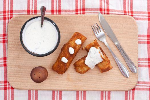 Pancake whit chicken roll