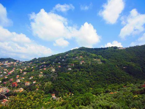 Village on Coast of Italy