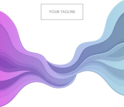 Vector illustration of Colored waves design template