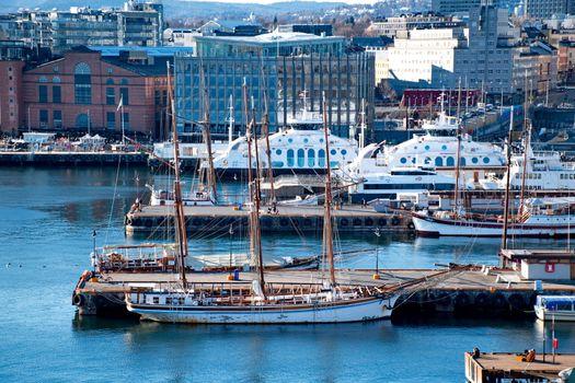 Harbour of Oslo, Norway
