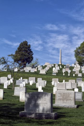 Graves at the Arlington Cemetery