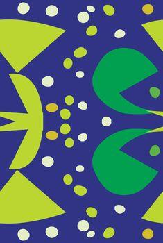 Green Abstract Bird Beak Pattern