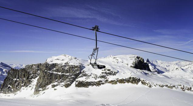 Tignes, alps, France