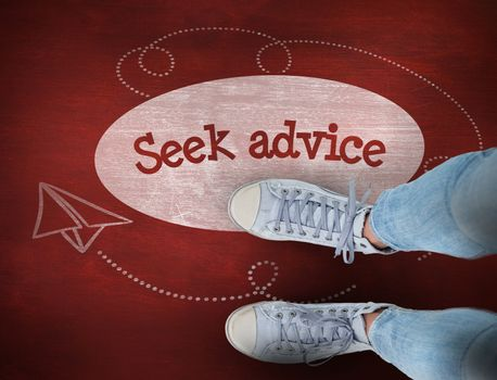 Seek advice against desk