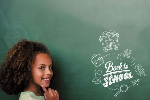 back to school against cute pupil thinking