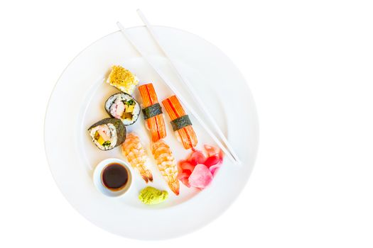 Isolate sushi set in white background