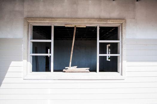 Window under construction