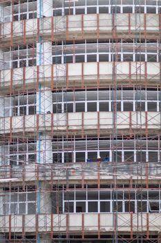 windows building  under construction