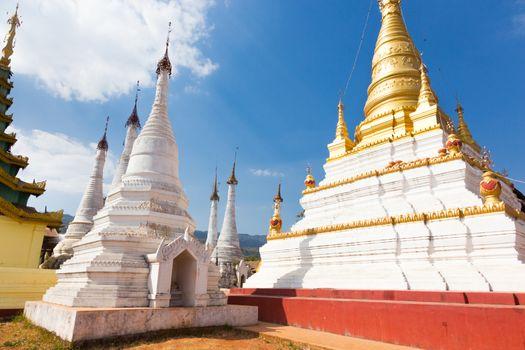 Buddhist temple, Pindaya, Burma, Myanmar.