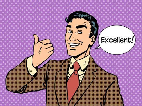excellent businessman success concept