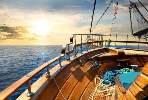 Sailboat and sea