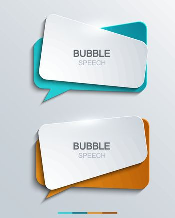 Illustration showing a set of modern speech bubbles.