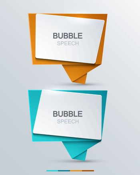 Illustration showing a set of modern speech bubbles.