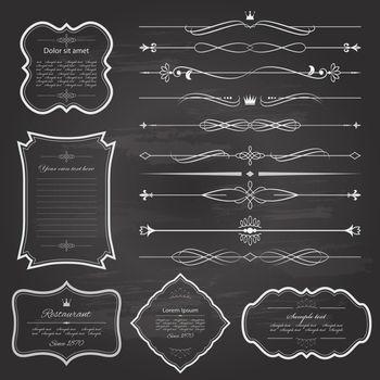 Retro borders and design elements.