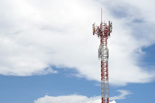 telecommunication tower with sky background