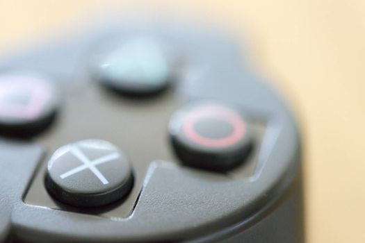 Video Game Controller close up.