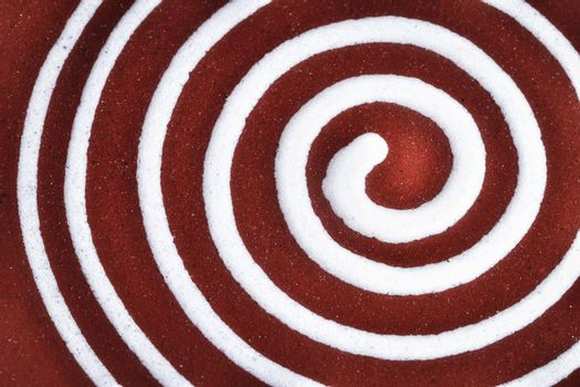 white spiral on clay pottery ceramics