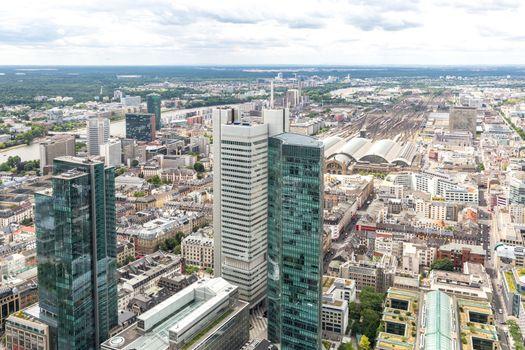 Aerial Frankfurt Germany
