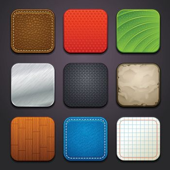 Set of app icon backgrounds.