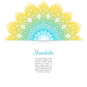 Vector illustration of Color Mandala background template
