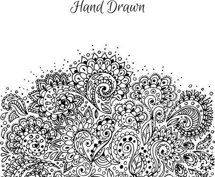 Vector illustration of Floral hand drawn doodle