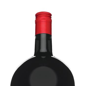liquor bottle isolated on white