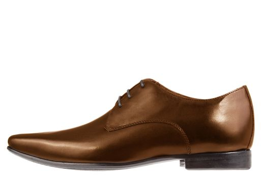 single brown formal leather shoe