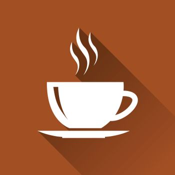 illustration of hot cup of tea or coffee
