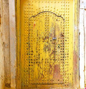 historical in  antique building door yellow
