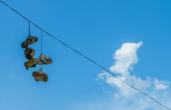 shoes on the power line
