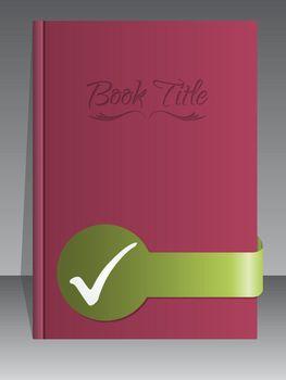 Simplistic book cover design with check mark
